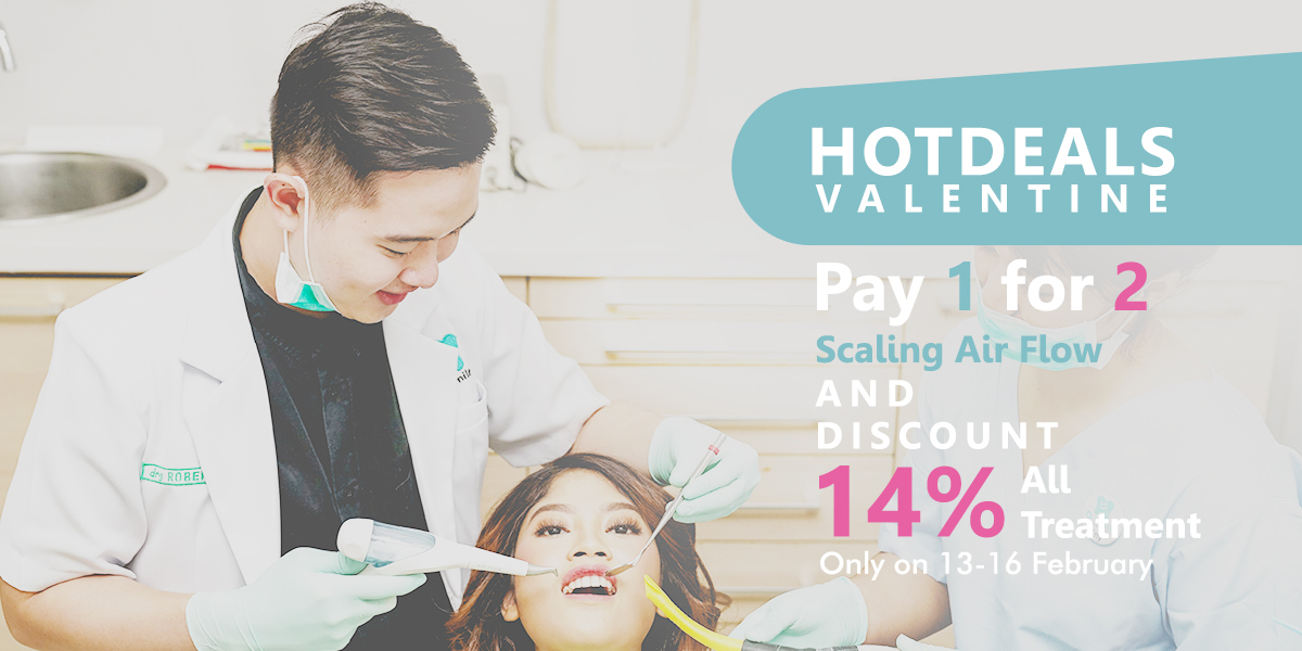 Hot Deals Valentine: Pay 1 For 2 Scaling Air Flow & Discount 14% All Treatment