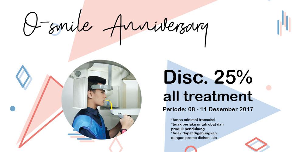 Promo Anniversary O-smile Laser Dental