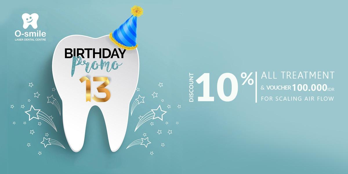 O-Smile Birthday Promo