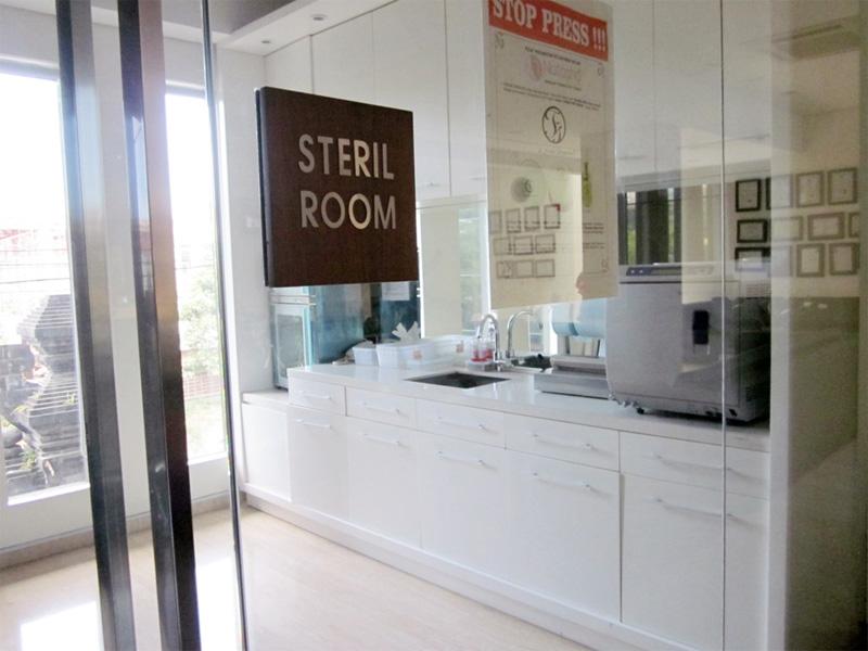 Ruang Sterilisasi O-Smile Renon Bali
